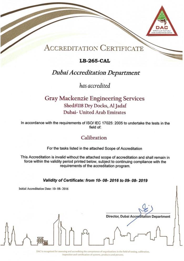 DAC Certificate & Scope