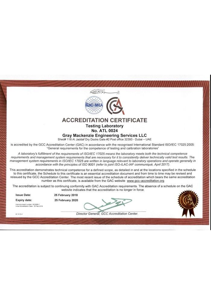 GAC- Certificate - ATL 0024 - ISO 17025