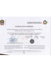 Accreditation certificate NAL 37